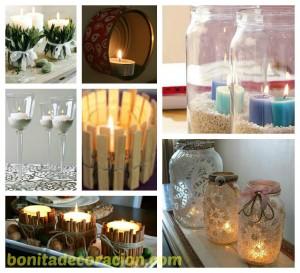 velas diferentes bonita decoracion