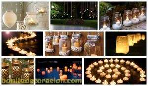 velas exterior bonita decoracion